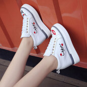 Trendy White Print PU Loafers