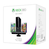 MICROSOFT Xbox 360 4GB Kinect Holiday Value Bundle features two great games: Kinect Sports: Season Two and Kinect Adventures