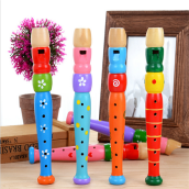 BESSKY Wooden Trumpet Buglet Hooter Bugle Educational Toy Gift For Kids - Multicolor