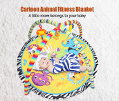 Baby Soft Play Mat Cartoon Animal Gym Fitness Blanket