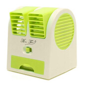 STARHOME AC Duduk Mini Portable - Double Blower Mini AC - Kipas Angin - Hijau - MF-BP-GR