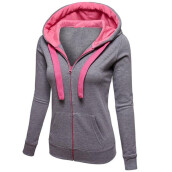 BESSKY Womens Warm Hoodies Hoody Sweatershirt Hooded Jumper Pullover Coat Zip Jacket_