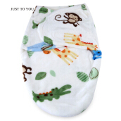 JUST TO YOU Newborn Baby Soft Blanket Cartoon Anti-kick Sleeping Bag-Monkey