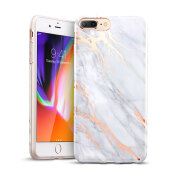 iPhone8 Plus/7 Plus Marble Case, ESR Slim Soft Flexible TPU Marble Pattern Cover for Apple iPhone 8 Plus/7 Plus(Grey Gold Sierra)