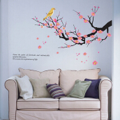 YEDUO PVC Removable Wall Sticker Plum Blossoms Home Decorations