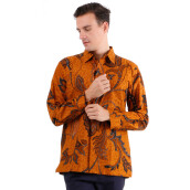 DANAR HADI Mens Long Sleeve Batik LKRB1 - Brown