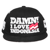 DAMN! I LOVE INDONESIA Snapback Urban Batik - Black Black