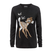 MARKUS LUPFER Disney Bambi Sequin Charcoal - Grey