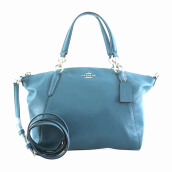 COACH Small Kelsey Satchel In Pebble Leather Teal [COA01614B]