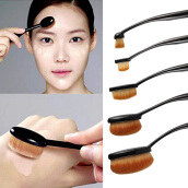 [Kingstore]Oval Face Eye Makeup Brush Black High Quality Soft Bristles 5 Pcs Set