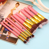 [Kingstore]US Pro Makeup Cosmetic Blush Brush Eyebrow Foundation Powder Brushes Set