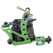 Professional Carbon Steel Tattoo Machine Gun 8 Wraps Coils Liner