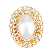 1901 JEWELRY Oval Pearl Brooch