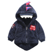 BESSKY Baby Infant Girls Boys Dinosaur Hooded Coat Cloak Jacket Thick Warm Clothes_