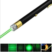 [Kingstore]USB Rechargeable Green/Red Light Laser Pointer Pen 5mW High Power Beam
