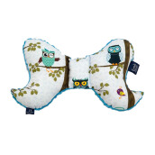 LA MILLOU Travel Pillow Angel Wings - Anna Mucha Owl Radio Teal AW029T