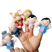 BESSKY 6 Pcs Finger Even Storytelling Good Toys Hand Puppet For Baby