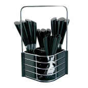 NAKAMI Stainless Steel Cutlery 25pcs - Black