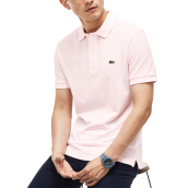 LACOSTE Men's Classic Fit Polo in Petit Pique - Flamingo