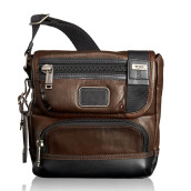 TUMI Alpha Bravo Barstow Crossbody Leather Dark Brown [92306DB2]