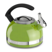 KITCHENAID Porcelain Enamel Kettles - KTEN20CBKL/Sunkissed Lime, C Handle with Trim Band