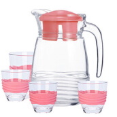 LUMINARC Jug Coasline Pink with Silicone Grip L5534 Set of 5 - Pink