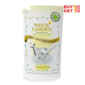 BUY 1 GET 1 - WHITE GARDEN Shower Cream Pure Goat's Milk & Pearl - Refill 900ml