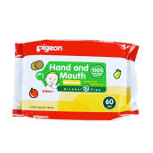 PIGEON Wipes Hand & Mouth 60s - PR040202