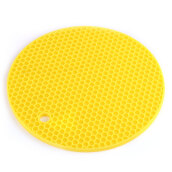 Multipurpose Non-slip Flexible Heat resistant Table Mats Round Honeycomb Silicone Pot Holders