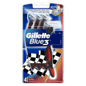 GILLETTE Blue 3 Elastomer Handle Disposal Sensitive Red 4pcs