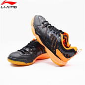 Li-Ning 2018 Man Badminton Shoes AYTM081 Black Badminton Sneaker
