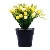 KOKOJI Flower Arrangements with Vase - Yellow/KKJ-0317-27 JD