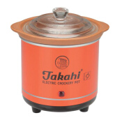 TAKAHI Slow Cooker 0.7 L Heat Resistant - Red
