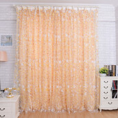 BESSKY Print Floral Voile Door Curtain Window Room Curtain Divider Scarf_