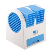 STARHOME AC Duduk Mini Portable - Double Blower Mini AC - Kipas Angin - Biru - MF-BP-BL