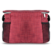 Large Capacity Polyamide Cross Body Mummy Bag-Deep Red