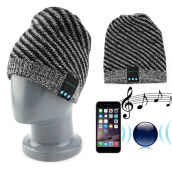 [Kingstore]Wireless Bluetooth Music Knit Hat with Handsfree Headset Earphone For Phones