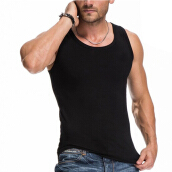 Men 's fashionable new style vest breathable elastic waistcoat