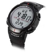 Synoke Jam Tangan Pria Digital Casual dengan Leather Strap Waterproof 61576 - Hitam