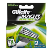 GILLETTE Mach3 Turbo Sensitive Cartridge 2pcs