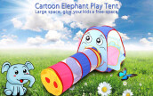 Portable Foldable Outdoor Indoor Cartoon Elephant Tent Children Playhouse Play Game House Cubby Hut