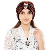 LUIRE Velvet Turban - Brown