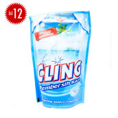 CLING Biru Pouch Carton 425ml x 12pcs