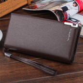 BESSKY Men Long Bifold Business Leather Wallet Money Card Holder Coin Bag Purse_