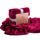 GRAPHIX Blanket  Coral Fleece - Maroon / ( 150 x 200 )