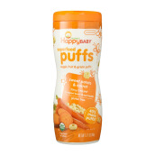 HAPPY BABY Superfood Puff Sweet Potato & Carrot Tub - 60gr