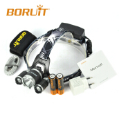 BORUIT B21 18W Cycling light 6000LM US XM-L2+2*XPE USB Mirco Headlamp LED Hunting Headlamp Micro USB Headlight Torch fishing