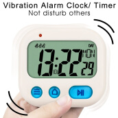 LCD Vibrating Alarm Clock Digital Full Vision Nightlight Snooze Travel Clock Digital Week Time Mini Timer Vibration Alarm Clock