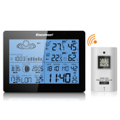 EXCELVAN Wireless Weather Station with Precision Forecast, Temperature, Humidity, Sunrise/Sunset?Time, Barometer Dual Alarm