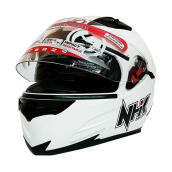 NHK RX9 Helm Full Face - White Metalik